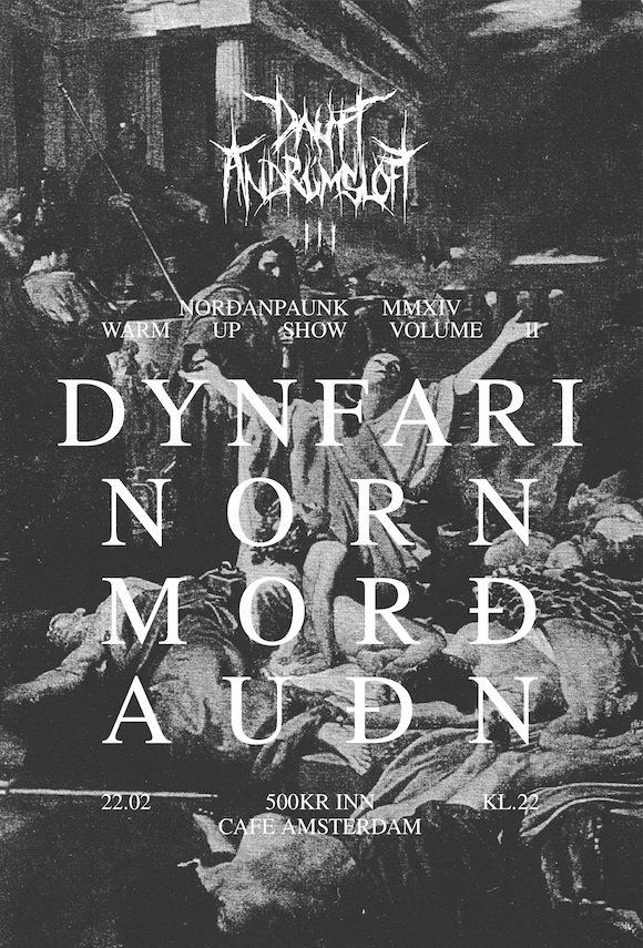 dautt andrúmsloft þrjú auðn morð norndynfari