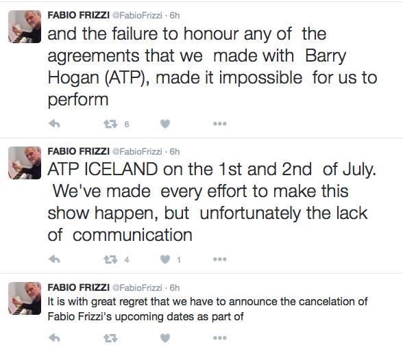 skjámynd af twitter-síðu fabio rizzi
